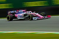 15th November 2019; Autodromo Jose Carlos Pace, Sao Paulo, Brazil; Formula One Brazil Grand Prix, Practice Day; Sergio Perez (MEX) Racing Point F1 Team RP19 - Editorial Use