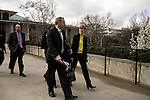 March 17, 2009. Raleigh, NC.. Images from one day in the life of Deborah K. Ross, Representative for North Carolina House District 38.. 10:58 AM. Ross talks to staff and colleagues on her way to a meeting of the education committee..