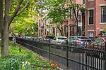 sPRINGTIME in the South End neighborhood, Boston, Massachusetts, USA