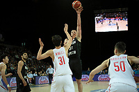 New Zealand Tall Blacks&rsquo; Jack Salt in action during the FIBA World Cup Basketball Qualifier - NZ Tall Blacks v China at Spark Arena, Auckland, New Zealand on Sunday 1 July 2018.<br /> Photo by Masanori Udagawa. <br /> www.photowellington.photoshelter.com