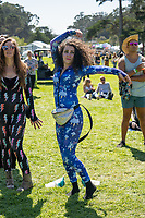 SAN FRANCISCO, CALIFORNIA - AUGUST 10: Festival Fashion Atmosphere during the 2019 Outside Lands Music And Arts Festival at Golden Gate Park on August 10, 2019 in San Francisco, California. Photo: Alison Brown/imageSPACE/MediaPunch<br /> CAP/MPI/IS<br /> ©IS/MPI/Capital Pictures