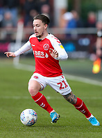 Fleetwood Town's Barrie McKay <br /> <br /> Photographer Lee Parker/CameraSport<br /> <br /> The EFL Sky Bet League One - Fleetwood Town v Blackpool - Saturday 7th March 2020 - Highbury Stadium - Fleetwood<br /> <br /> World Copyright © 2020 CameraSport. All rights reserved. 43 Linden Ave. Countesthorpe. Leicester. England. LE8 5PG - Tel: +44 (0) 116 277 4147 - admin@camerasport.com - www.camerasport.com