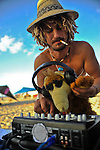 "DJ at ""Mid Burn"" the Israeli ""Burning Man Festival"" held at ""Habonim"" beach north of Israel October 4-6, 2012."