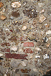 Rubble church wall building material, Butley, Suffolk, England