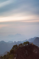 View from Mount Zwegabin at sunrise, Hpa An, Kayin State (Karen State), Myanmar (Burma)