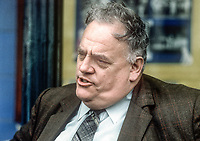 Cyril Smith, MP, Rochdale constituency, Liberal Party, UK, September, 1982, 198210000268C<br /><br />Copyright Image from Victor Patterson, 54 Dorchester Park, <br />Belfast, UK, BT9 6RJ<br /><br />t1: +44 28 9066 1296 (from Rep of Ireland 048 9066 1296)<br />t2: +44 28 9002 2446 (from Rep of Ireland 048 9002 2446)<br />m: +44 7802 353836<br /><br />victorpatterson@me.com<br />www.victorpatterson.com<br /><br />Please see my Terms and Conditions of Use at VICTORPATTERSON.COM. It is IMPORTANT that you familiarise yourself with them.<br /><br />Images used on the Internet must be visibly watermarked i.e. &copy;VICTORPATTERSON.COM within the body of the image and copyright metadata must not be deleted. Images used on the Internet have a size restriction of 4kbs and are chargeable at the then current NUJ rates.<br /><br />This image is only available for the use of the download recipient i.e. television station, newspaper, magazine, book publisher, etc, and must not be passed on to any third party. It is also downloaded on condition that each and every usage is notified within 7 days to victorpatterson@me.com<br /><br />The right of Victor Patterson to be identified as the author is asserted in accordance with The Copyright Designs And Patents Act (1988).