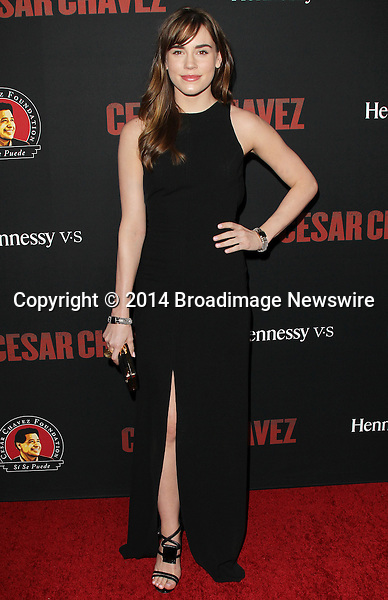 Pictured: Christa B. Allen<br /> Mandatory Credit &copy; Frederick Taylor/Broadimage<br /> Premiere Of Pantelion Films And Participant Media's &quot;Cesar Chavez&quot; - Arrivals<br /> <br /> 3/20/14, Hollywood, California, United States of America<br /> <br /> Broadimage Newswire<br /> Los Angeles 1+  (310) 301-1027<br /> New York      1+  (646) 827-9134<br /> sales@broadimage.com<br /> http://www.broadimage.com