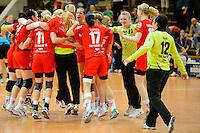 Schlussjubel der Spielerinnen vom Leverkusen