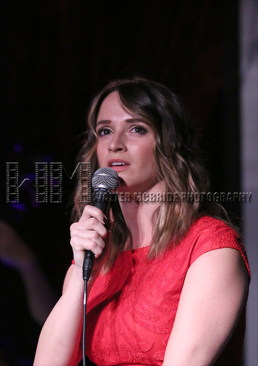 Emily Padgett performing at The Lilly Awards Broadway Cabaret at the Cutting Room on October 17, 2016 in New York City.