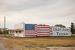 US flag painted on side of building