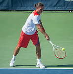 Alexandr Dolgopolov (UKR) loses to somdev Devvarman (IND), 6-3, 7-6(4) at the CitiOpen 2013 in Washington, D.C., Washington, D.C.  District of Columbia on July 30, 2013.