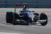 Esteban Gutierrez of Sauber F1 Team riving (21) C33 during first practice session of  2014 Formula 1 United States Grand Prix, Friday, October 31, 2014 in Austin, Tex. (Mo Khursheed/TFV Media via AP Images)