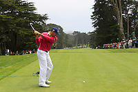 Jonathan Byrd (USA) tees off the 9th tee during Wednesday's Practice Day of the 112th US Open Championship at The Olympic Club, San Francisco,  California, 13th June 2012 (Photo Eoin Clarke/www.golffile.ie)