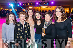 Enjoying the Kerins O'Rahillys Strictly Come Dancing, held at the Brandon Hotel, Tralee on Saturday night last, were l-r: Iseult Ní Loingsigh, Eibhlin Uí Loingsigh, Muireann Ní Loingsigh, Maeve Johnston, Marian O'Neill and Fiona O'Shea.