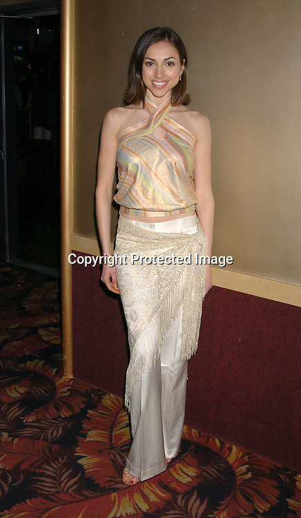Eden Riegel ..at the All My Children Christmas party at the Copacabana  on December 17, 2003. Photo by Robin Platzer, Twin Images.
