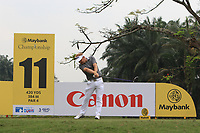 Soren Kjeldsen (DEN) in action on the 11th during Round 2 of the Maybank Championship at the Saujana Golf and Country Club in Kuala Lumpur on Friday 2nd February 2018.<br /> Picture:  Thos Caffrey / www.golffile.ie<br /> <br /> All photo usage must carry mandatory copyright credit (&copy; Golffile | Thos Caffrey)