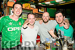 Fans l-r  Liam McGuire, Damien Gurnette, Noel Dineen and Hugo McGuire watching the EURO's Ireland v France at the Huddle Bar on Sunday