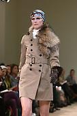 February 2009 - London Fashion Week, Aquascutum showing Autumn/Winter collection with Yasmin LeBon modelling.