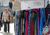 ISCHIA LA CANCELLIERA TEDESCA ANGELA MERKEL IN COMPAGNIA DEL MARITO JOACHIM SAUER  .NELLA FOTO.FOTO CIRO DE LUCA..