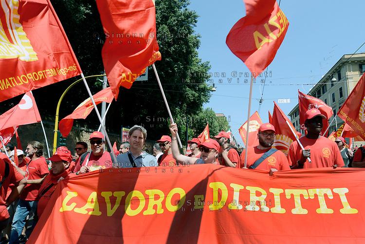 Roma, 17 Giugno 2017<br /> Lavoro e diritti<br /> Manifestazione nazionale CGIL. Rispetto per il lavoro la democrazia e la Costituzione, contro i Voucher
