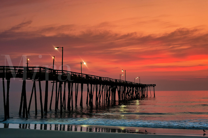 Fishing Pier sunrise, Nags Head, Outer Banks, North Carolina