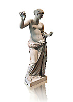 The Venus of Arles (  Greek Goddess Aphrodite) is a 1.94-metre-high (6.4 ft) marble sculpture of Venus probably a copy of the Aphrodite of Thespiae by 4th century BC Greek Athenian sculpture Praxiteles . Louvre Museum, Paris. <br />