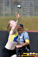 Danica Davies in action during the Athletics - NZ Track and Field Championships at Newtown Park, Newtown, New Zealand on Friday 6 March 2015. <br /> Photo by Masanori Udagawa. <br /> www.photowellington.photoshelter.com.
