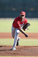 Cincinnati Reds pitcher Raisel Iglesias (26) during an Instructional League game against the Kansas City Royals on October 16, 2014 at Goodyear Training Complex in Goodyear, Arizona.  (Mike Janes/Four Seam Images)