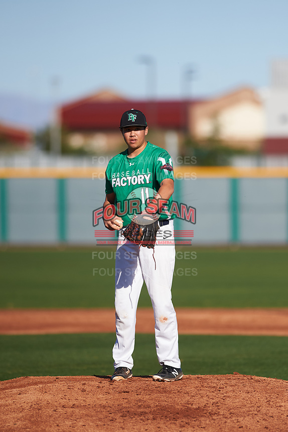 Jonathan Clark (11) of Mission Hills High School in San Marcos, California during the Baseball Factory All-America Pre-Season Tournament, powered by Under Armour, on January 13, 2018 at Sloan Park Complex in Mesa, Arizona.  (Zachary Lucy/Four Seam Images)