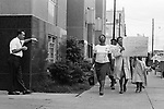 Marchers in Birmingham Ala on their way to the Jailhouse to protest the jailing of Martin Luther King Jr. (Photo by Jim Peppler).     This and over 10,000 other images are part of the Jim Peppler Collection at The Alabama Department of Archives and History:  http://digital.archives.alabama.gov/cdm4/peppler.php
