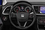 Car pictures of steering wheel view of a 2017 Seat Leon Style 5 Door Hatchback Steering Wheel