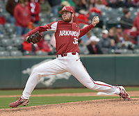 NWA Democrat-Gazette/ANDY SHUPE<br /> Arkansas South Carolina Saturday, April 14, 2018, during the inning at Baum Stadium. Visit nwadg.com/photos to see more photographs from the game.