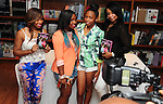 CORAL GABLES, FL - JUNE 15: (L-R) Antonia Carter, mother of Reginae Carter daughter of rapper Lil' Wayne, Bria Williams daughter of Bryan ?Birdman? Williams and her mother Mia Dumas greet fans and sign copies of their book Paparazzi Princesses at Books and Books on June 15, 2013 in Coral Gables, Florida. (Photo by Johnny Louis/jlnphotography.com)