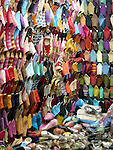 Leather slippers (babouche) in the souk in Marrakesh.