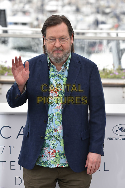CANNES, FRANCE - MAY 14: Lars von Trier at the photocall for the 'The House That Jack Built' during the 71st annual Cannes Film Festival at Palais des Festivals on May 14, 2018 in Cannes, France.<br /> CAP/PL<br /> &copy;Phil Loftus/Capital Pictures