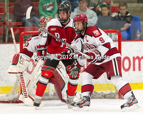 Mark McGowan (RPI - 21), Danny Biega (Harvard - 9) - The Harvard University Crimson defeated the visiting Rensselaer Polytechnic Institute Engineers 4-0 (EN) on Saturday, November 10, 2012, at Bright Hockey Center in Boston, Massachusetts.