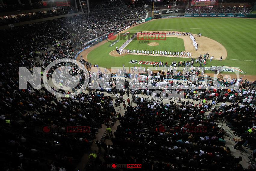 Estadio Sonora.durante  la Serie del Caribe 2013  de Beisbol,  Mexico  vs Puerto Rico,  en el estadio Sonora el 1 de febrero de 2013 en Hermosillo.....©(foto:Baldemar de los Llanos/NortePhoto)........During the game of the Caribbean series of Baseball 2013 between Mexico  vs Puerto Rico. .©(foto:Baldemar de los Llanos/NortePhoto)..http://mlb.mlb.com/mlb/events/winterleagues/league.jsp?league=cse