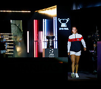 9th November 2019; RAC Arena, Perth, Western Australia, Australia; Fed Cup by BNP Paribas Tennis Final, Day 1, Australia versus France; Caroline Garcia of France enters the arena