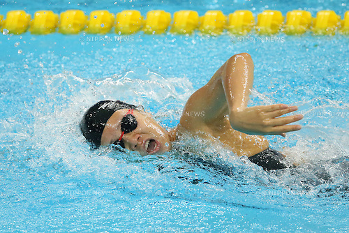 Miki Uchida (JPN), <br /> SEPTEMBER 21, 2014 - Swimming : <br /> Women's 4x100m Freestyle Relay Heat <br /> at Munhak Park Tae-hwan Aquatics Center <br /> during the 2014 Incheon Asian Games in Incheon, South Korea. <br /> (Photo by YUTAKA/AFLO SPORT) [1040]