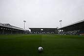 17th March 2018, Craven Cottage, London, England; EFL Championship football, Fulham versus Queens Park Rangers; Heavy snow falls at Craven Cottage before kick off