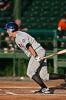 Eric Campbell (4) of the St. Lucie Mets during a game vs. the Daytona Cubs May 17 2010 at Jackie Robinson Ballpark in Daytona Beach, Florida. St. Lucie won the game against Daytona by the score of 5-2.  Photo By Scott Jontes/Four Seam Images