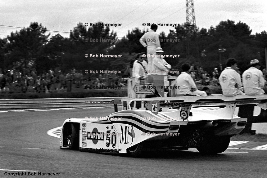 LE MANS, FRANCE: Hans Heyer, Riccardo Patrese and Piercarlo Ghinzani completed the most laps in the Group 6 category in their Lancia Martini LC1 during the 24 Hours of Le Mans on June 20, 1982, at Circuit de la Sarthe in Le Mans, France.