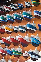 Europe/France/Bretagne/29/Finistère/ Le Guilvinec: la flotte du port représentée à Haliotika- La Cité de la Pêche