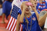 MONTREAL, CANADA, 30.06.2015 - EUA-ALEMANHA - Torcedor dos Estados Unidos durante partida contra Alemanha, válida pelas semi-finais da Copa do Mundo de Futebol Feminino, no Estádio Olímpico de Montreal, no Canadá, nesta sexta-feira, 30. (Foto: William Volcov/Brazil Photo Press)