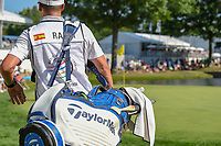 A wooden spoon is attached to the bag of Jon Rahm (ESP)during 3rd round of the World Golf Championships - Bridgestone Invitational, at the Firestone Country Club, Akron, Ohio. 8/4/2018.<br /> Picture: Golffile | Ken Murray<br /> <br /> <br /> All photo usage must carry mandatory copyright credit (© Golffile | Ken Murray)