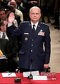 Washington, D.C. - May 18, 2006 --  United States Air Force General Michael Hayden is sworn-in to testify before the United States Senate Intelligence Committee on his nomination as Director of the Central Intelligence Agency (CIA) in Washington, D.C. on May 18, 2006. <br /> Credit: Win McNamee - Pool via CNP
