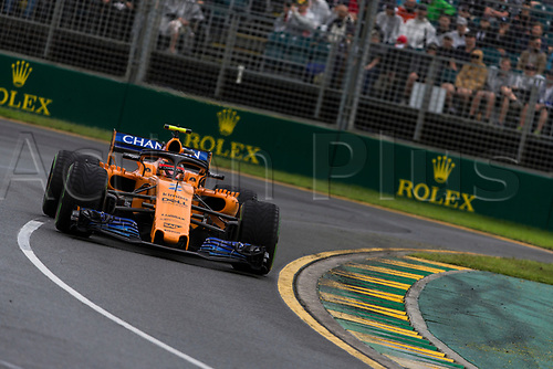 24th March 2018, Melbourne Grand Prix Circuit, Melbourne, Australia; Melbourne Formula One Grand Prix, qualifying; The number 2 McLaren driven by Stoffel Vandoorne
