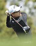 JEJU, SOUTH KOREA - APRIL 25:  Ted Oh of Korea tees off on the 7th hole during the Round Three of the Ballantine's Championship at Pinx Golf Club on April 25, 2010 in Jeju, South Korea. Photo by Victor Fraile / The Power of Sport Images