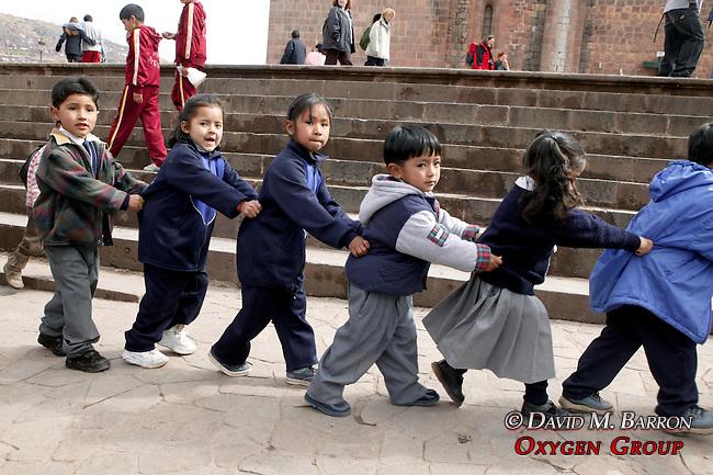 Children In Plaza De Armas