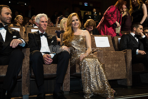 Amy Adams, Richard Buckley,  Tom Ford  at the premiere of Nocturnal Animals at the 2016 Venice Film Festival.<br /> September 2, 2016  Venice, Italy<br /> CAP/KA<br /> &copy;Kristina Afanasyeva/Capital Pictures /MediaPunch ***NORTH AND SOUTH AMERICAS ONLY***
